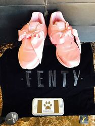 Fenty By Rihanna Bow Sneaker Pink Silver 365054-01 Womenand039s Size 7-9