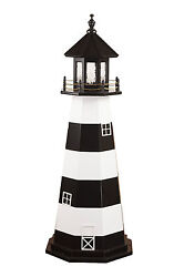 Wooden Outdoor Lighthouse Cape Canaveral Optional Lighting Yard Garden Landscape