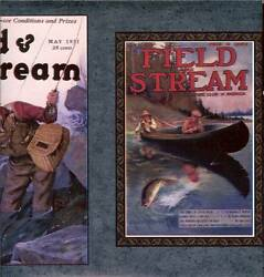VINTAGE FIELD AND STREAM MAGAZINE COVERS WALLPAPER BORDER 2 pack =30ft