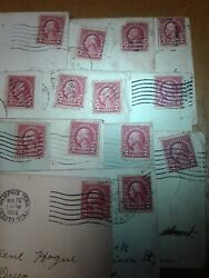 Red Washington used stamps with letters   from man to woman great con. Have ple
