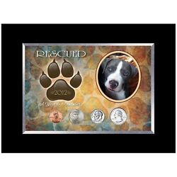 New American Coin Treasures Rescued Year To Remember Dog 4 Coin Frame 2009