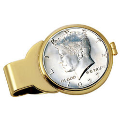New Year To Remember Goldtone Half Dollar Coin Money Clip 1973