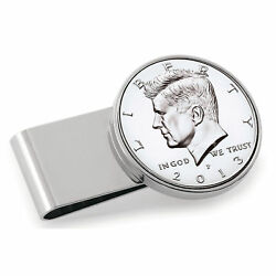 New Stainless Steel Silvertone Year To Remember Half Dollar Coin Money Clip 1996