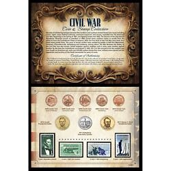 New American Coin Treasures Civil War Coin And Stamp Collection 11228