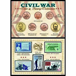 New American Coin Treasures Civil War Coin And Stamp Collection 12435