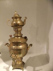 Antique Brass Tea Maker With Cool