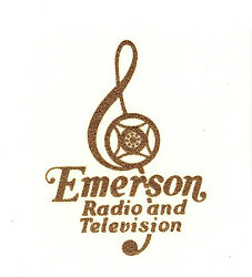 Emerson Cleft Catalin Radio Decal Also For Bakelite And Wood Sets