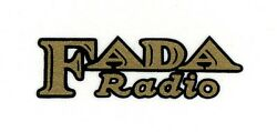 Fada Catalin Radio Decal Also For Bakelite And Wood Sets