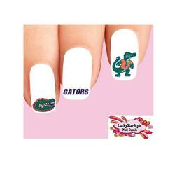 Waterslide Nail College Decals Set of 20 Florida Gators Assorted