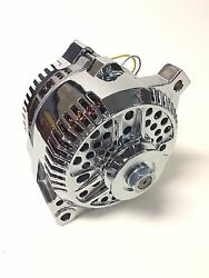 New 3g Chrome 200 Amp Alternator 1 One Wire Fits Ford 65-85 Large Case
