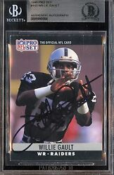 1990 Pro Set #153 Willie Gault Raiders Slabbed Auto Signed Card BAS Beckett Auth