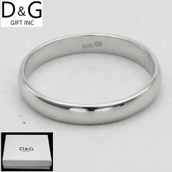 DG Men#x27;s Women#x27;s.Sterling SilverWedding Band Ring 6 7 89 101112 Box $13.99