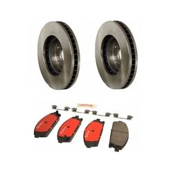 Acura Mdx 2003 - 2006 Front Disc Brake Rotors And Disc Brake Pads Kit Brembo New