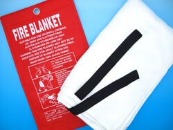Fire Blanket Quick Release Tabs Home Work Car Extinguisher First Aid Kit Ems Emt