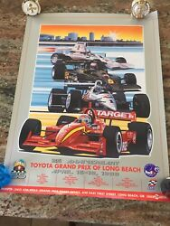 1999 Toyota Grand Prix Of Long Beach 25th Anniversary Event Poster