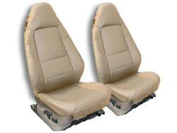 BMW Z3 1996 2002 BEIGE IGGEE S.LEATHER CUSTOM FIT FRONT SEAT COVER $149.00