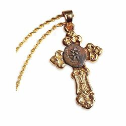 New American Coin Treasures Gold Cross With Widowand039s Mite Coin Pendant Only 5642
