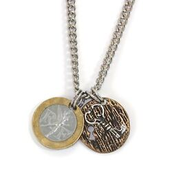 New French Franc With Sterling Silver Lock And Key Menand039s Necklace 11357