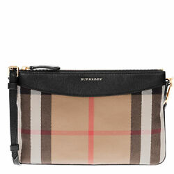 Burberry Women's House Check and Clutch Bag Black
