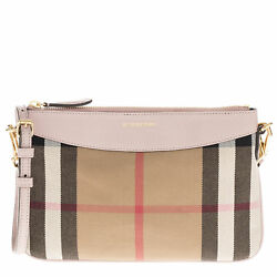 Burberry Women's House Check and Clutch Bag Pale Orchid 3996884