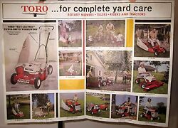 1968 Poster Sz Toro Tractor Mower Yard Care Presidential Election Chart Brochure