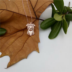 Staffordshire Pit Bull Terrier Charm Pendant Necklace Dog Breed Cute Trendy Gift