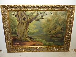 20x30 original 1935 oil painting by Olin Travis