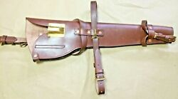 Wwii Us M1 Carbine Leather Scabbard Holster - Carbine .30 Caliber