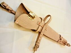 Wwii Us M1 Carbine Leather Natural Scabbard Holster - Carbine .30 Caliber