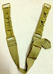 Wwii British Army Brodie Helmet Chin Strap - Repro. Lot Of 10