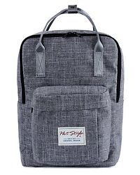 BESTIE Small Travel Backpack - Cute Baby Diaper Bag Lightweight for Mom  Grey