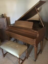 Haines Bros. Antique Player Piano. Still plays well. 74 rolls of music and Bench