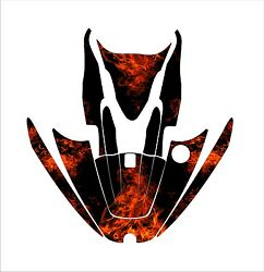 Kawasaki Zxi 750 1100 Jetski Jet Ski Graphic Kit Wrap Pwc Decals Stickers Flame