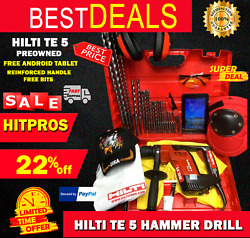 Hilti Te 5 Preowned, Free Android Tablet, Reinforced Handle, Bits, Fast Ship