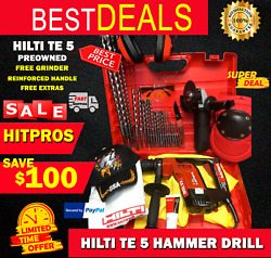 Hilti Te 5 Hammer Drill Preowned,reinforced Handle, Free Grinder,fast Ship