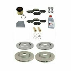 Full Custom Front And Rear Brake Rotors Pads And Filters Bolt Caps Fluid Kit Genuine