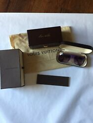 100% Authentic Louis Vuitton Millionaire Purple Sunglasses - COMPLETE SET - Mint
