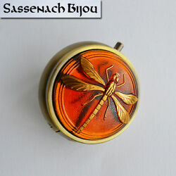 Dragonfly In Amber Pill Box Or Trinket Box - Outlander Claire Fraser Sassenach