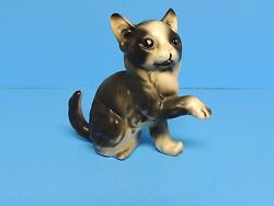 Collectible Decorative Handsome Black and White Cat Kitten Kitty Figurine