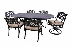 Le Terrace Collection 4 Dining Chairs2 Swivel Rockers-le Terrace Oval Table Set