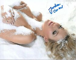Jordan Carver Glamour Model Signed 8x10 Photo 110a Zoo Weekly Maxim Mexico