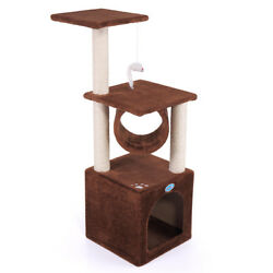 Cat Tree Tower Condo Furniture Scratch Post Kitty Pet House Play Pewter New