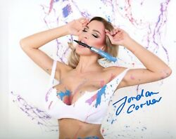 Jordan Carver Glamour Model Signed 8x10 Photo 173a Zoo Weekly Maxim Mexico