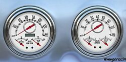 New Vintage Usa Direct Fit Gauges,woodward White Fits 1947-1953 Chevy/gmc Truck.