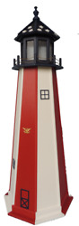 Poly Outdoor Lighthouses Patroitic Optional Lighting  Yard Garden Landscape