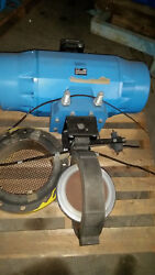 Fisher Posi-seal 14 A31a Butterfly Valve W/ Posi-seal 1035 Actuator Unused