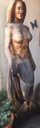 Mermaid Chainsaw Sculpture Early Stacy Poitras Mermaid 6 Ft