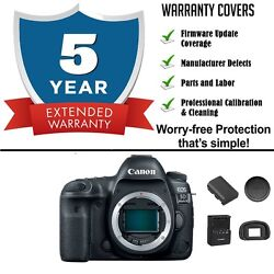 Canon Eos 5d Mark Iv Digital Slr Camera Body With 5 Year Extended Warranty