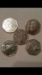 Full Set Of Beatrix Potter Collectable Coins. Perfect Condition.