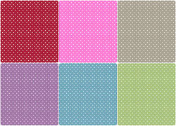 Wipe Clean Small Polka Dot Spotted Spots Tablecloth Oilcloth Vinyl Fabric Patio